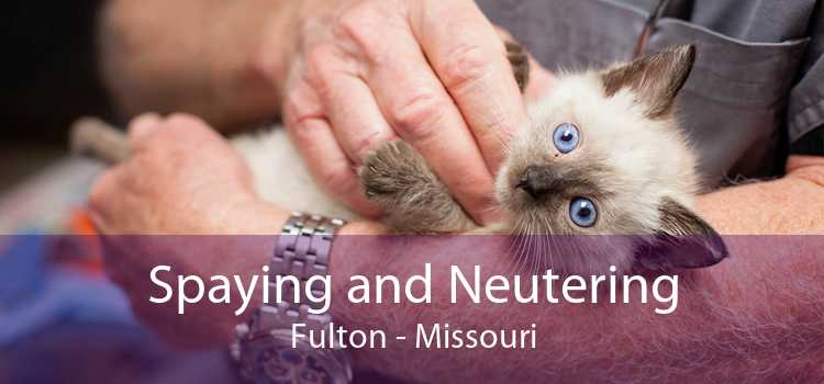 Spaying and Neutering Fulton - Missouri